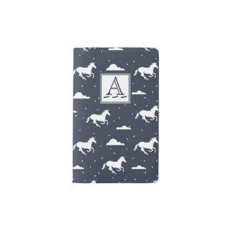 Unicorn Midnight Sky Pattern Pocket Moleskine Notebook