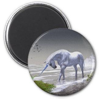 Unicorn Moon 6 Cm Round Magnet