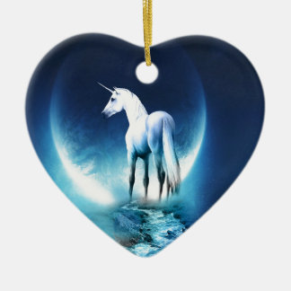 Unicorn Moon Christmas Ornament
