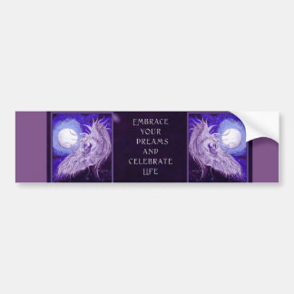 Unicorn Moon Horse Equine Pegasus Purple Blue Cute Bumper Sticker