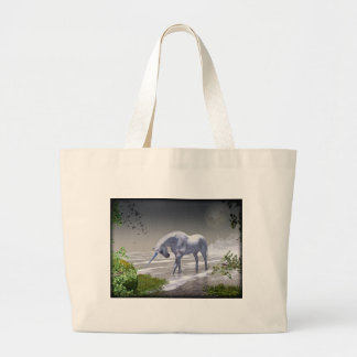 Unicorn Moon Large Tote Bag