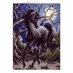 Unicorn Moon notecard Greeting Card