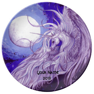 Unicorn Moon Plate Personalized Custom Name