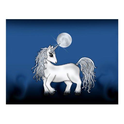 Unicorn Moon Post Cards