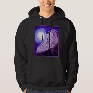 Unicorn Moon Purple Blue Cloud Heavenly Light Hoodie