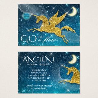 Unicorn Moon Stars Night Sky Universe Earth Business Card