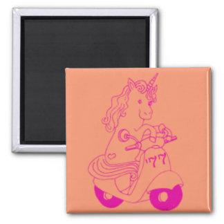 Unicorn Moped Magnet