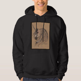 Unicorn Native Brown Feather Tan Hoodie