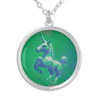 Unicorn Necklace or Locket (Glowing Emerald)