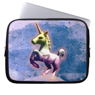 Unicorn Neoprene Laptop Sleeve (Burnt Blue)