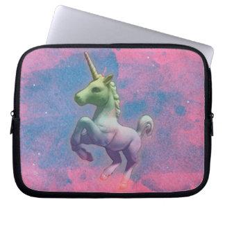 Unicorn Neoprene Laptop Sleeve (Cupcake Pink)
