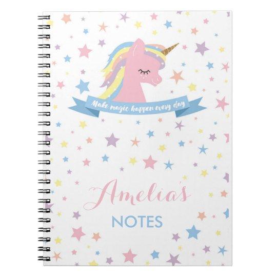 "Unicorn notebook - ""make magic happen every day"""