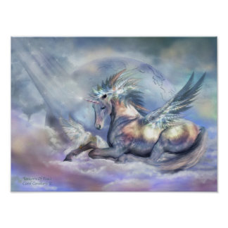 Unicorn Of Peace Art Poster/Print Poster