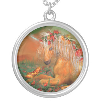 Unicorn Of The Roses Wearable Art Necklace