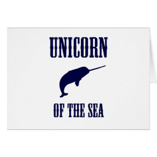 Unicorn of the Sea (Narwhal) Card