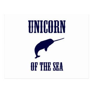 Unicorn of the Sea (Narwhal) Postcard