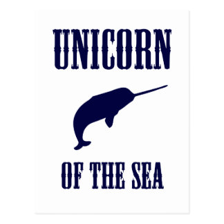 Unicorn of the Sea (Narwhal) Postcard