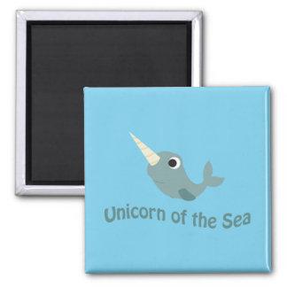 Unicorn of the Sea Square Magnet