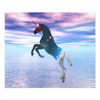 Unicorn of the stars photo print