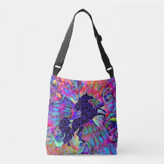 UNICORN OF THE UNIVERSE multicolored Crossbody Bag