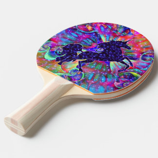 UNICORN OF THE UNIVERSE multicolored Ping Pong Paddle