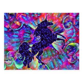UNICORN OF THE UNIVERSE multicolored Postcard