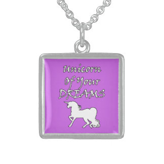 Unicorn of Your Dreams (White) Sterling Silver Necklace