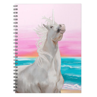 Unicorn on beach notebook