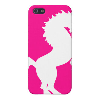 Unicorn on bright pink background iphone case iPhone 5 case