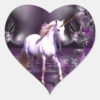 Unicorn On Purple Fractal Stickers