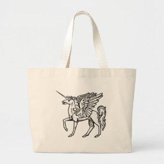 Unicorn or Pegasus  Unicórnio ou pégaso Einhorn od Large Tote Bag