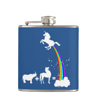 Unicorn origin hip flask