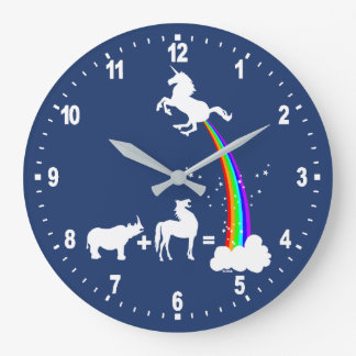 Unicorn origin large clock