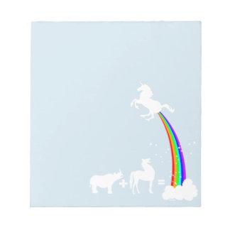 Unicorn origin notepad
