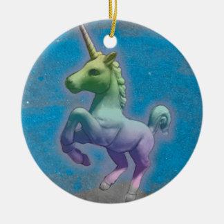 Unicorn Ornament - Circle (Blue Nebula)