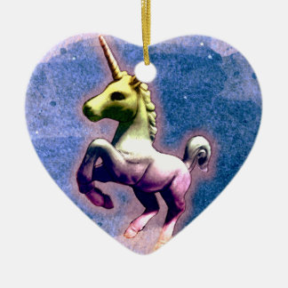 Unicorn Ornament - Heart (Burnt Blue)