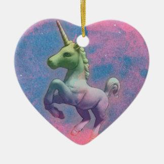 Unicorn Ornament - Heart (Cupcake Pink)