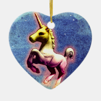 Unicorn Ornament - Heart (Galaxy Shimmer)