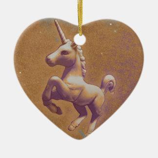 Unicorn Ornament - Heart (Metal Lavender)