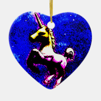 Unicorn Ornament - Heart (Punk Cupcake)