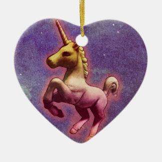 Unicorn Ornament - Heart (Purple Mist)