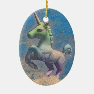 Unicorn Ornament - Oval (Glitter Paper)