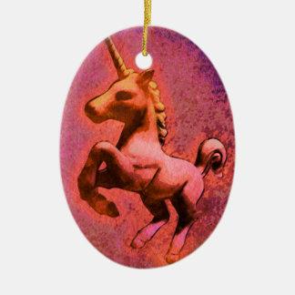 Unicorn Ornament - Oval (Red Intensity)