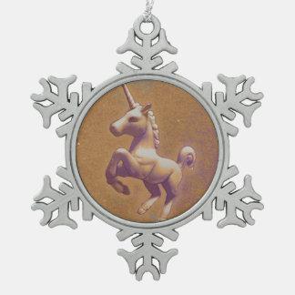 Unicorn Ornament - Snowflake (Metal Lavender)