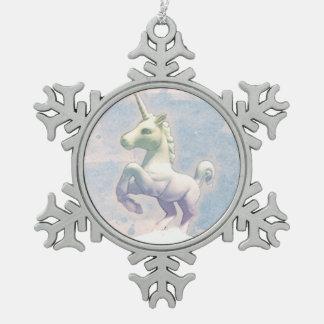 Unicorn Ornament - Snowflake (Moon Dreams)