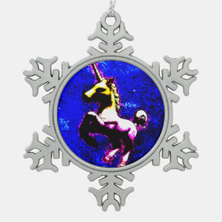 Unicorn Ornament - Snowflake (Punk Cupcake)