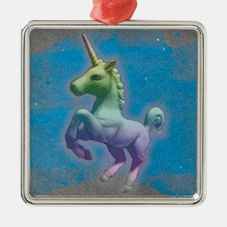 Unicorn Ornament - Square Premiu (Blue Nebula)