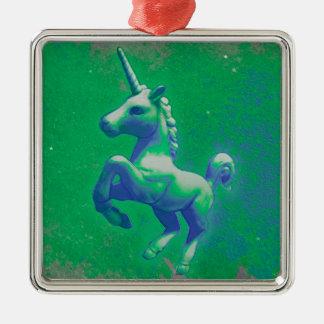 Unicorn Ornament - Square Premiu (Glowing Emerald)