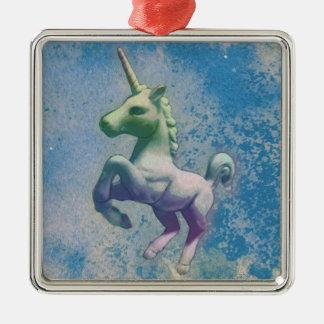 Unicorn Ornament - Square Premium (Blue Arctic)