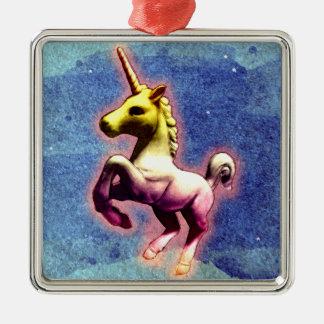 Unicorn Ornament - Square Premium (Galaxy Shimmer)
